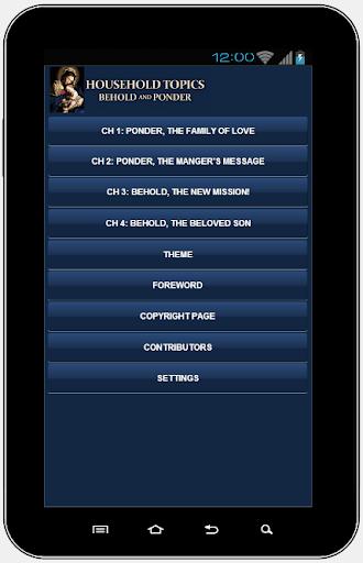 【免費書籍App】BEHOLD & PONDER HHOLD TOPICS-APP點子