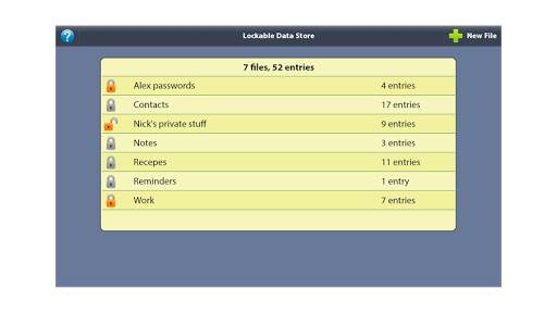 Lockable Data Store 1.2.2 screenshots 1