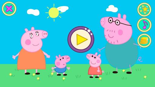 粉紅豬小妹和家人。拼圖