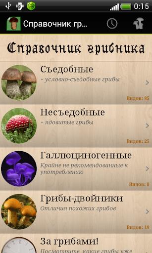 Справочник грибника Беспл.