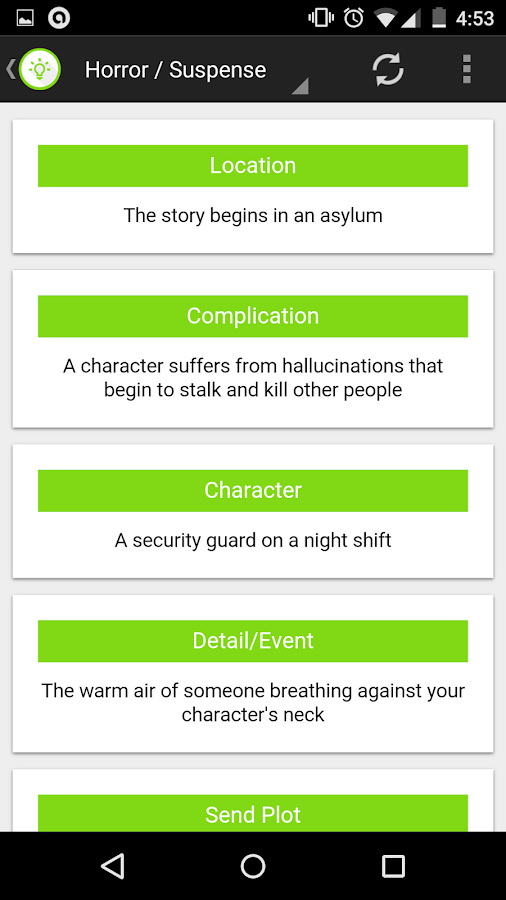 Story Plot Generator- screenshot