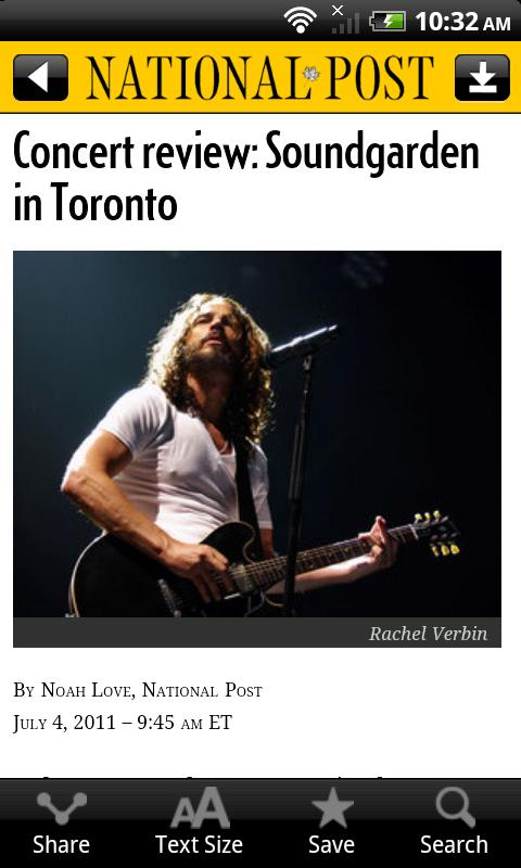 National Post Mobile - screenshot