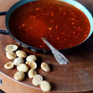 Sherry-Garlic Soup with Smoked Paprika