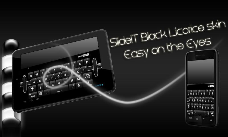SlideIT Black Licorice Skin - screenshot