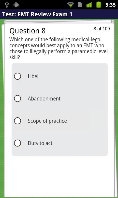 EMT Review Plus- screenshot