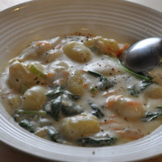 Olive Garden Chicken Gnocchi Soup.