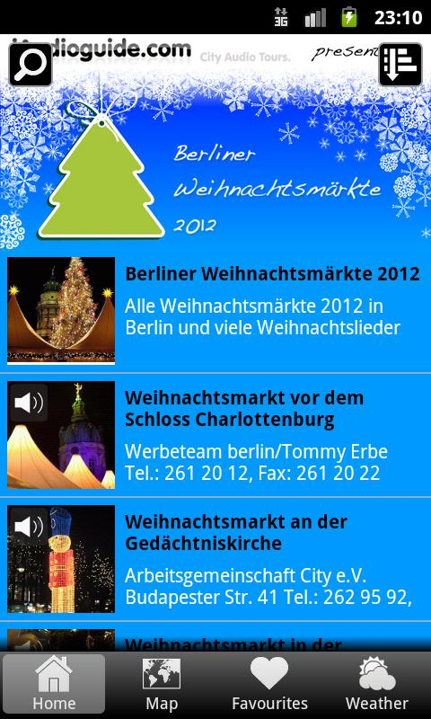 Weihnachtsmärkte Berlin 2012 - screenshot