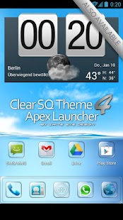 Clear Theme 4 Apex Launcher - screenshot thumbnail