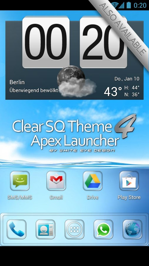 Clear Theme 4 Apex Launcher - screenshot