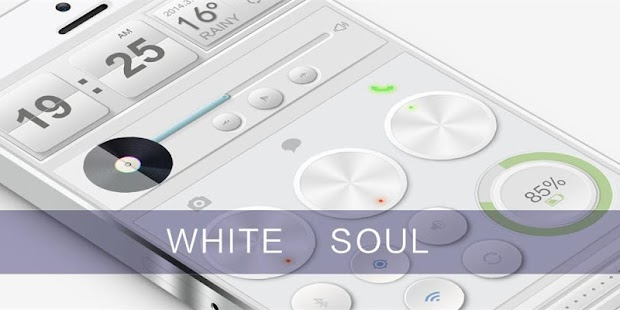 White Soul GO Locker Theme- screenshot thumbnail