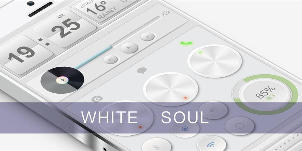White Soul GO Locker Theme - screenshot