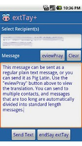 extTay+ Pig Latin for SMS screenshot 0