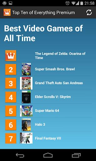 Top Ten of Everything Premium