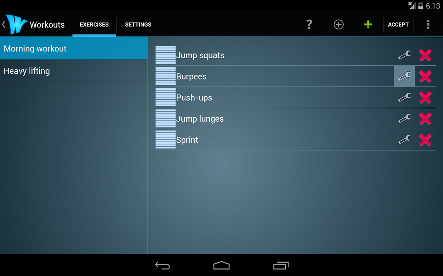 Wrkout Pro 50% off HIIT/Tabata- screenshot