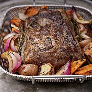 Grill-Roasted New York Strip Roast