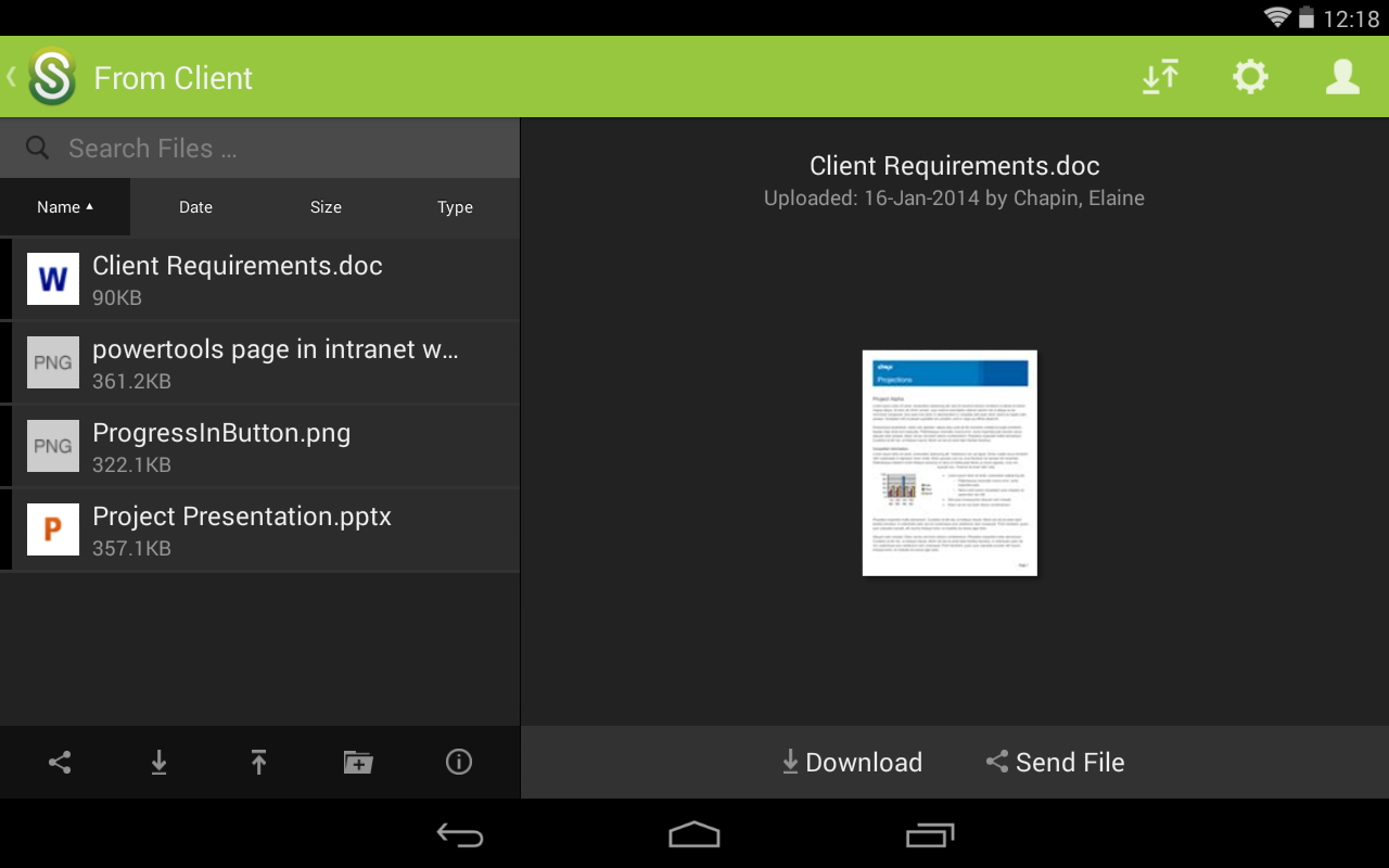 ShareFile Mobile - screenshot