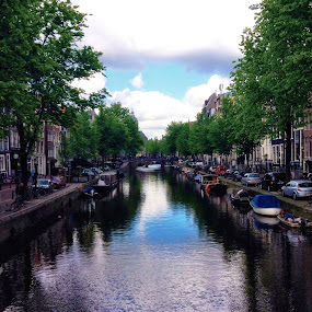 Canal by Jamie Tambor - Instagram & Mobile iPhone ( water reflection, europe, amsterdam, travel, iphone, canal, netherlands )