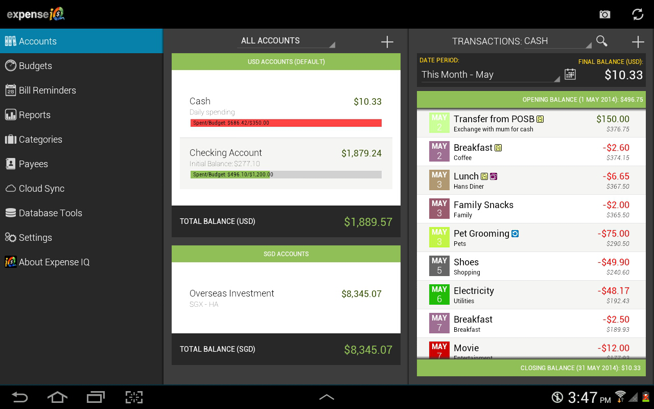 Expense IQ - Expense Manager - screenshot