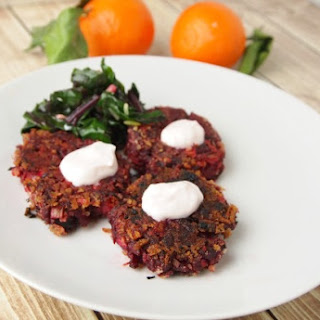 Beet Fritters.