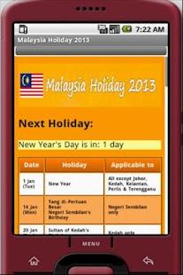 Malaysia Public Holiday 2013