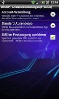 Screenshot of SMSoIP Freenet Plugin