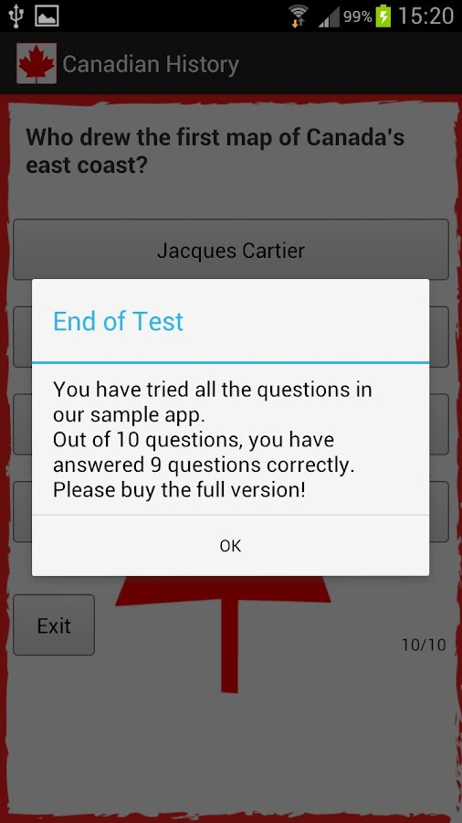 Canadian Citizenship Test- screenshot