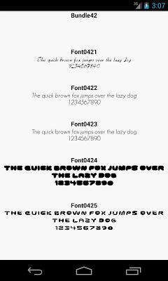 Fonts for FlipFont 42 - screenshot