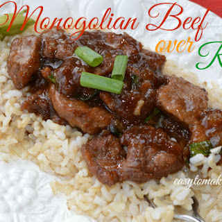 Monogolian Beef over Rice