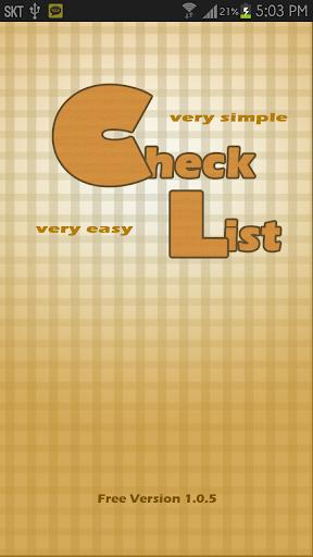 Very very easy check list
