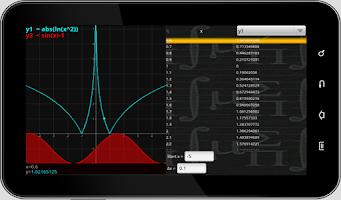 Screenshot of MathPac+ Graphing Calculator