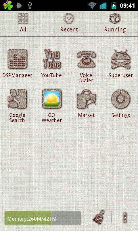 Linen Go Launcher Ex Theme - screenshot