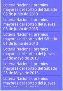 Resultados Lotería en España - screenshot thumbnail