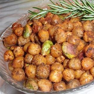 Zesty Garbanzo Beans with Pistachio Nuts.