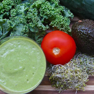 Salty Alkaline Kale Green Smoothie