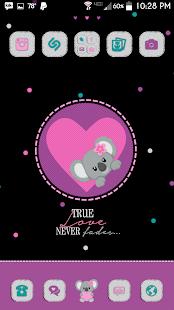 Koala Love Go Launcher Theme