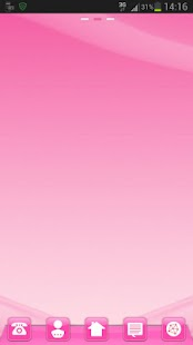 růžové styl GO Launcher - náhled