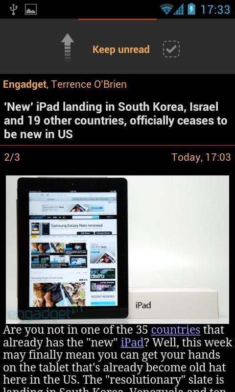 JustReader News - RSS - screenshot
