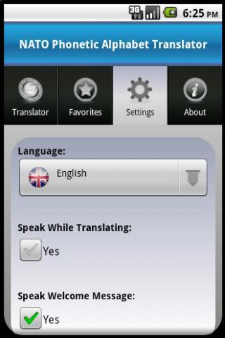 NATO Alphabet Translator- screenshot