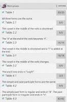 Screenshot of Irregular verbs