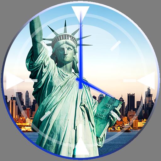 个人化のニューヨーク クロック ウィジェット LOGO-記事Game