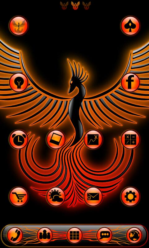 PhoenixFlame GoLauncherTheme - screenshot
