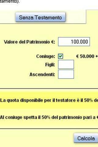 Calcola Eredità