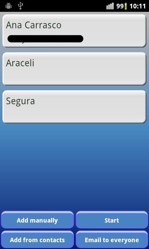 SecretSanta- screenshot