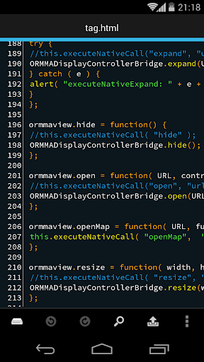 DroidEdit Pro code editor
