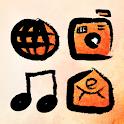 Calligraphy Atom Iconpack