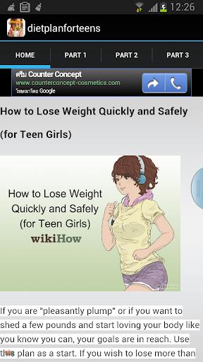 Diet Plan For Teens
