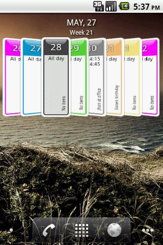 Up Next 3D Calendar Widget- screenshot