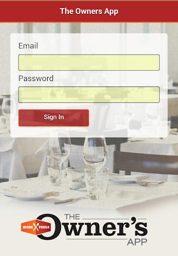 Menu Venue Owners App