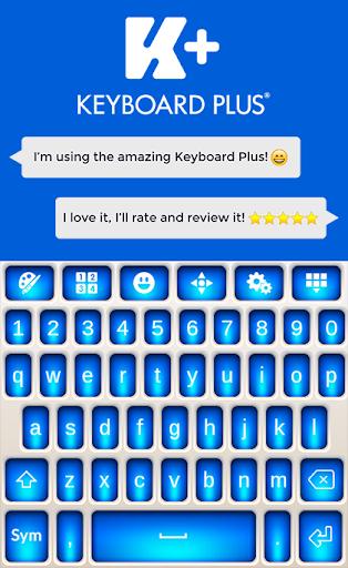 蓝色的主题键盘