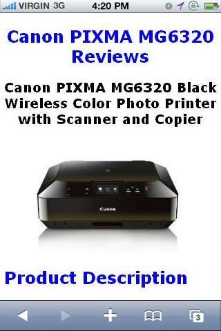 PIXMA MG6320 Printer Reviews